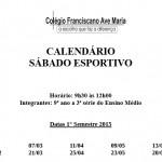 Calendário - Sábado Esportivo - 2015