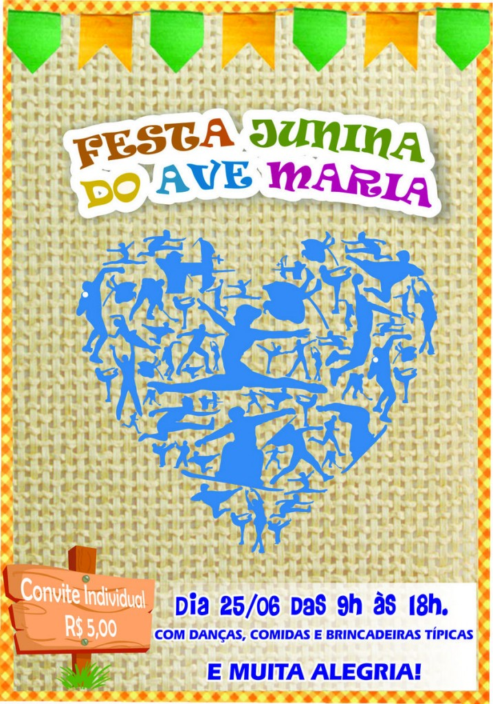 convite festa junina frente