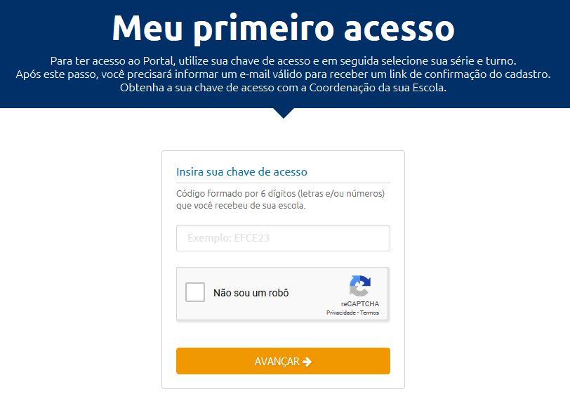 Tela - Primeiro acesso + Codigo